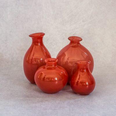 Red Dutz Vases