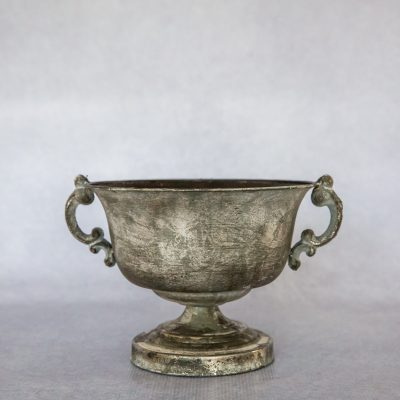 Antique Metal Footed Bowl
