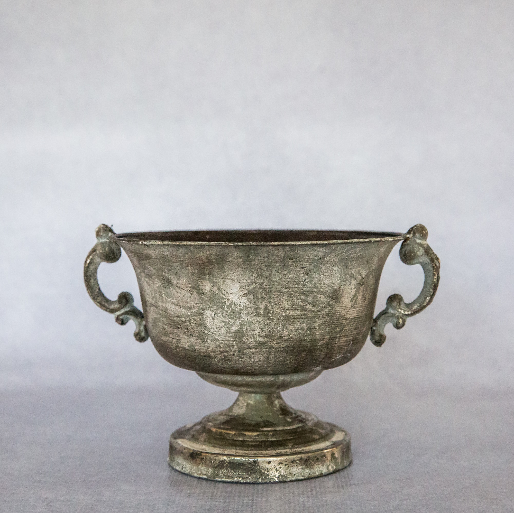 Antique Silver Trophy Footed Bowl Flamboijant Decor Hire