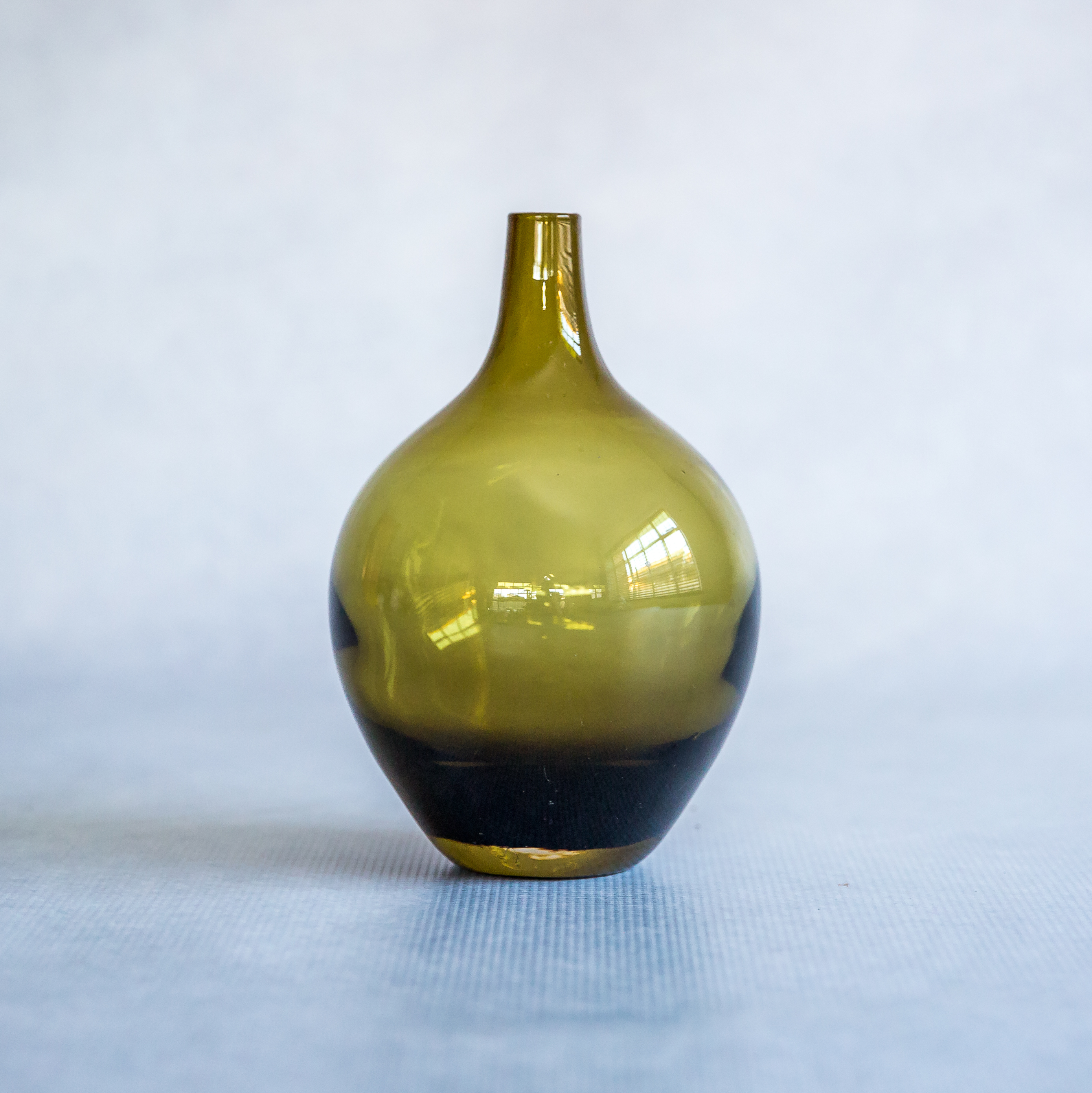 Flamboijant & Green Ikea Glass Vase